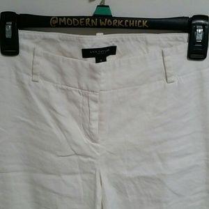 Ann Taylor -- White Linen Pants